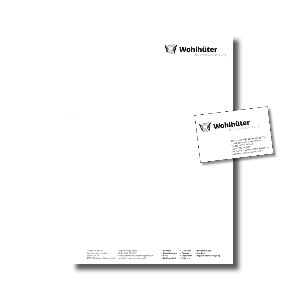 Briefbogen, Visitenkarten und mehr | PEP Medienstudio